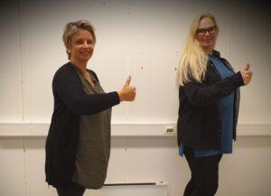 Kari Birkeland (til venstre) og Hilde E. Tornes (til høyre) avdekker hver enkelt arbeidssøkers behov